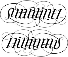 """Martinez"" & ""Williams"" Ambigram"