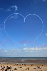 heart full of sky (Gwyrosydd) Tags: summer love beach swansea heart aeroplane mumbles redarrows swanseabay swanseaairshow