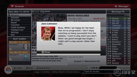 FIFA 12 Career Mode Preview
