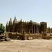 Cidade e mesquita de Djenne num dia normal