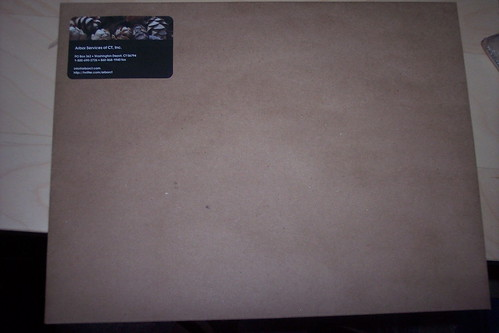 100% recycled Kraft envelopes, with new Moo stickers