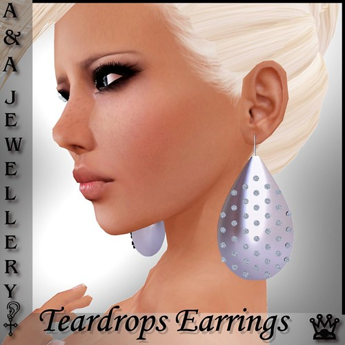 A&Ana Teardrops Earrings [SILVER]