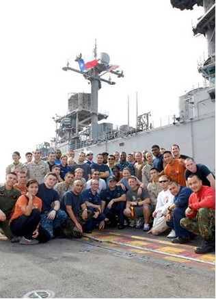 The Lone Star State was represented on the USS Boxer (LHD 4)