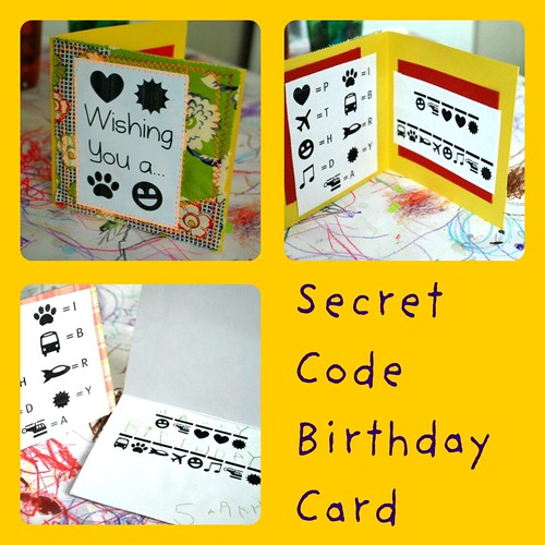 Secret Code Birthday Card