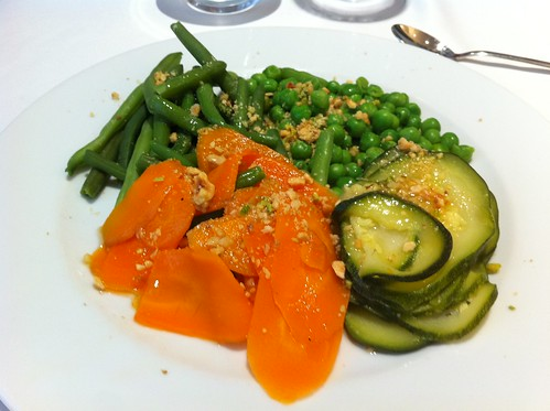 Vic | Restaurant del Casino | Verduras al vapor con aceite de frutos secos