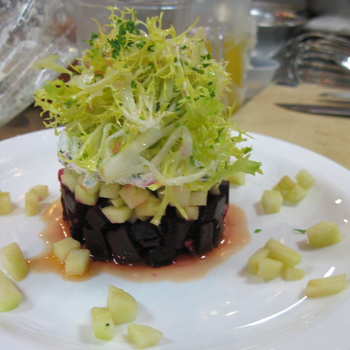 Roasted Beet and Goat Cheese Timbale