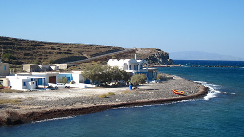 The new port of Riva on Therasia, linking the small island to the 'mainland' of Thera.