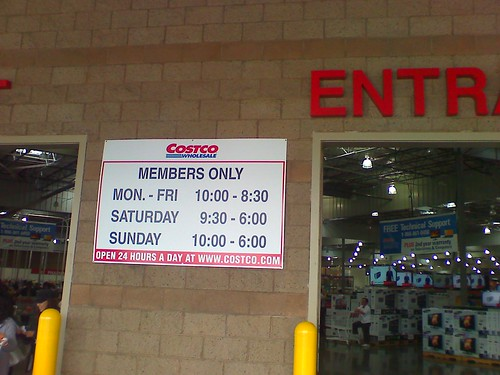 Costco Member Hours (El Camino Real)