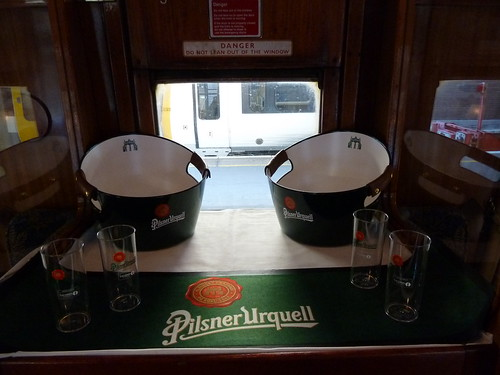 Point of sale material on The Pilsner Urquell Express to the British Open 2011