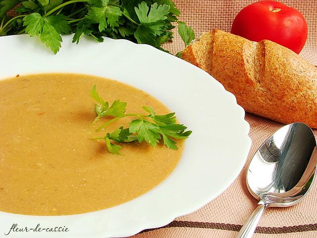 суп из запеченных баклажан и помидоров