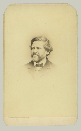 CDV man w long hair beard