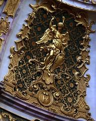 (Gerlinde Hofmann) Tags: germany bavaria weltenburg monastery klosterweltenburg angel initial r church inside weltenburgabbey engel kloster kirche woman