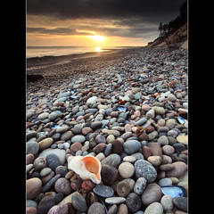 Sunrise - Findhorn Bay (angus clyne) Tags: ocean new morning blue red sea cliff west colour beach water yellow rock stone forest sunrise mouth river hope gold dawn bay coast scotland spring high day aberdeenshire angus south tide low north shell wave spray east pebble cover worn sail splash mussel moray firth whelk clyne findhorn cloyd culbin colorphotoaward canon5dmarkeii