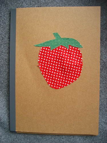 Strawberry notebook - end of year teacher's present