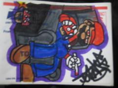 stoned mario sticker (sykofilmz) Tags: street art film graffiti team sticker artist sale films tag crew skateboard slap graff bomb trade phyco filmz syko syco mopeink