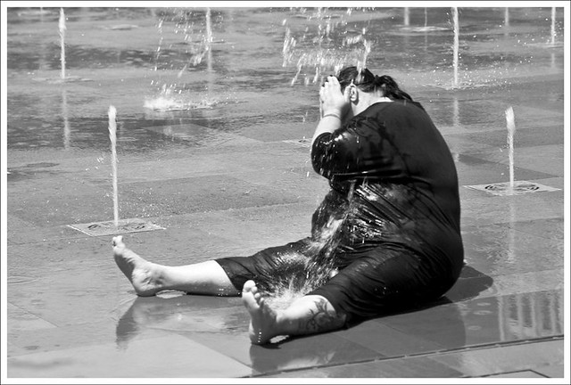 Hot Day In Citygarden 2 BW