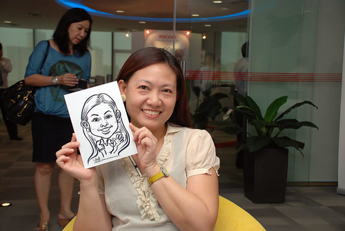 Caricature live sketching for Ricoh Roadshow - 12