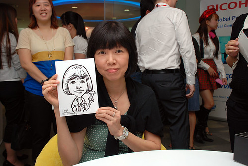 Caricature live sketching for Ricoh Roadshow - 25