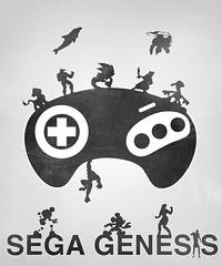Gaming - Sega Gegesis (ltgustin) Tags: print minimal gaming sega genesis