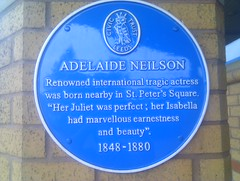 Photo of Adelaide Neilson blue plaque