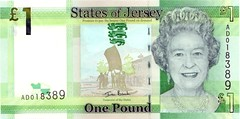 Front of Jersey £1 note 2011