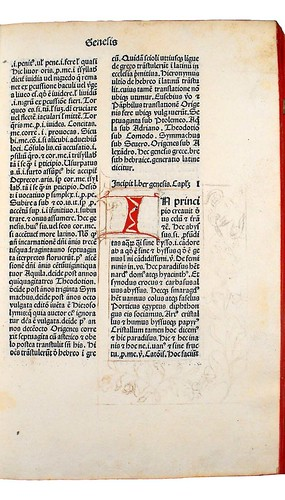 Unfinished border decoration in Marchesinus, Johannes: Mammotrectus super Bibliam