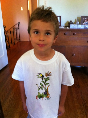 Ezra's new Belize shirt from Jamma