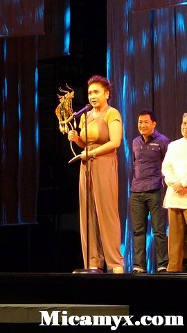 """Kung hindi pa ako nakakain ng tae, hindi ako mananalo! For the foreign jury, I said, 'I had to eat shit to win this.' Eugene Domingo said upon receiving her Best Actress award"