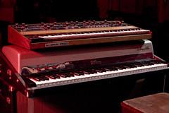 Sequential Circuits Prophet 5 and Fender Rhodes Sparkle Top (bergstenmusic) Tags: analog digital vintage keys stage piano organ leslie roland korg yamaha keyboards rhodes hammond synthesizer moog nord hohner wurlitzer kurzweil clavinet sequentialcircuits clavia bergsten tonecabinet