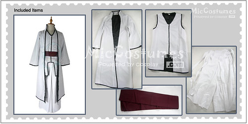 Bleach Sosuke Aizen Cosplay Costume_1