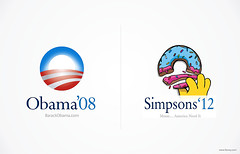 Simpsons'12 (FLOVEY™) Tags: america logo simpsons donut homer vote campaign obama 2012 rebrand