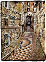Rustic Beauty... Siena, a World Heritage Site (williamcho) Tags: old travel italy tourism architecture digital photoshop famous rustic historic unescoworldheritagesite siena preserved topazlabadjust williamcho sonydscwx1 patrickcheah paliohorseracing 1clickactionsborderstextures