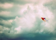 Fly. (Mary Vican) Tags: statepark blue summer sky kite clouds fly flying colorful air newengland free rhodeisland newport brentonpoint dramaticcloud