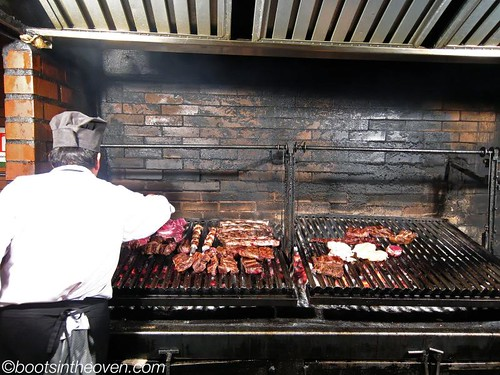 Tending the grill at las Vacas Gordas