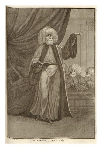 012-El Moutfi o jefe de la ley entre los mahometanos-Ceremonias et coutumes religieuses de tous les peuples du monde 1741- Bernard Picart-© Universitätsbibliothek Heidelberg