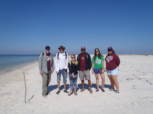 Hanging out on the beach with Dr. Rusty Feagin's Barrier Island Ecology class