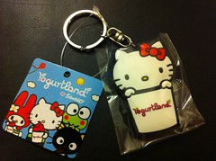 Yogurtland Hello Kitty Keychain