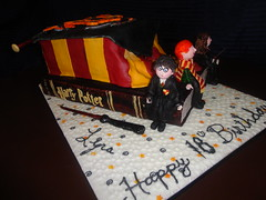 Harry Potter Book Cake (Cakes with Hart) Tags: birthday school art beautiful cake scarf emblem glasses book personal photos unique wand magic creative harry harrypotter celebration weddings birthdays hogwarts amazingcakes 3dcakes