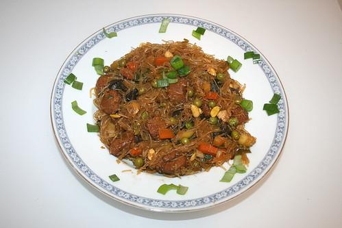 34 - Glasnudel-Gemüsepfanne / Glas noodles stir fry - Fertiges Gericht