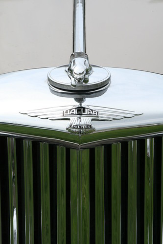 Jaguar 3 1/2 litre badge