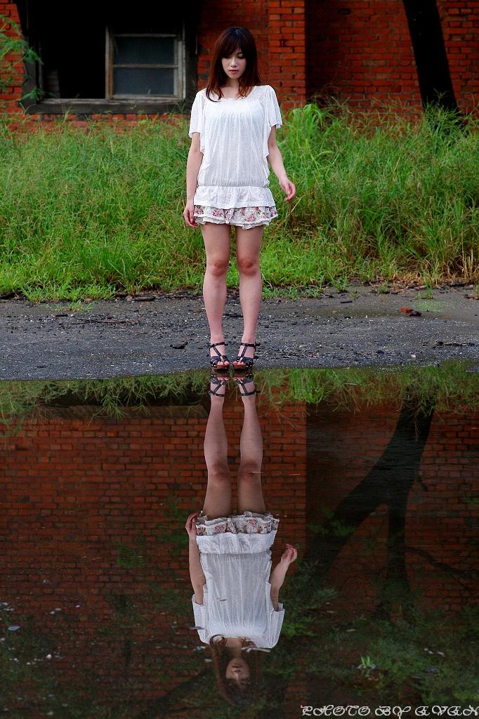 Olivia in the rain