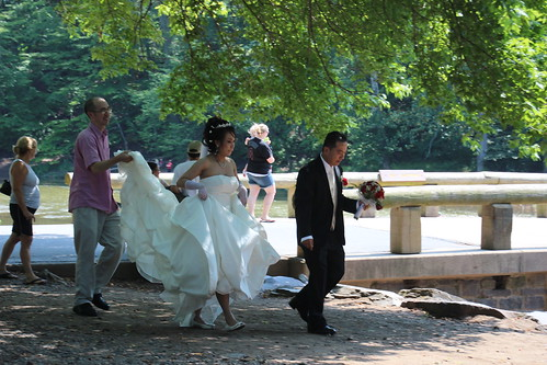 Bride and groom in Tyler State Park