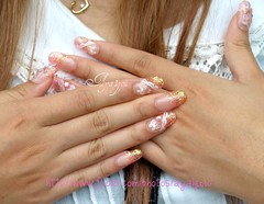 Glitter nails under the sun (aya1gou) Tags: pink japan candy girly nails kawaii sweets deco unhas nailart glitters gyaru ongles gelnails  uvgel japanesemanicure holidaynailart