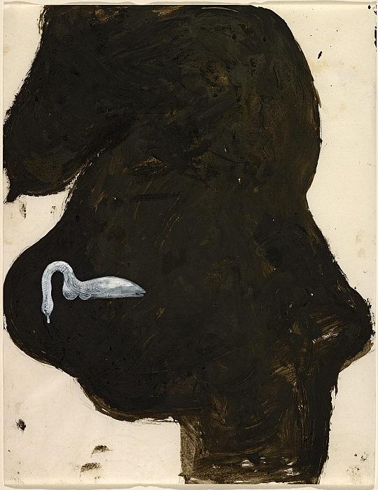 Joseph Beuys, Schwangere und Schwan (Pregnant Woman with Swan), 1959