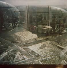 imm006 (markchapman86) Tags: england london 120 thames lomo doubleexposure londoneye 120film diana dianaf riverthames 120mm lomophotography