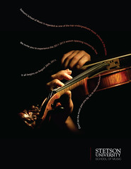 SU Music School Ad (jonescreative) Tags: music advertising design marketing ad creative violin freelance creativedirector magazinead