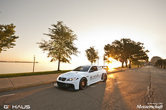 GTHAUS Widebody e92 BMW M3:  Watching the Sunrise (jeremycliff) Tags: city morning usa chicago skyline race racecar downtown wheels il bmw m3 exhaust e90 gtc savini meisterschaft e92 jeremycliff flossman photomotive gthaus thephotomotivecom jeremycliffcom wideobdy