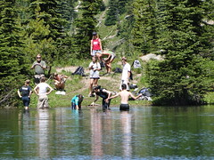 The swim party from my lunch spot just past campsite #2.