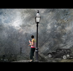 Lili Marleen (h.koppdelaney) Tags: life light summer hot art history car digital photoshop bottle mix waiting energy view symbol time drink picture shift marleen philosophy vision remembrance metaphor yesterday past lili psyche attraction symbolism psychology archetype timedifference koppdelaney rescheduling