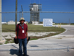Me and SLC-17 with the GRAIL Delta II and my Orioles Bucket Hat